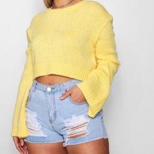 cae0e6248ae Boohoo Plus Sweaters | Plus Becca Side Split Moss Stitch Tunic ...